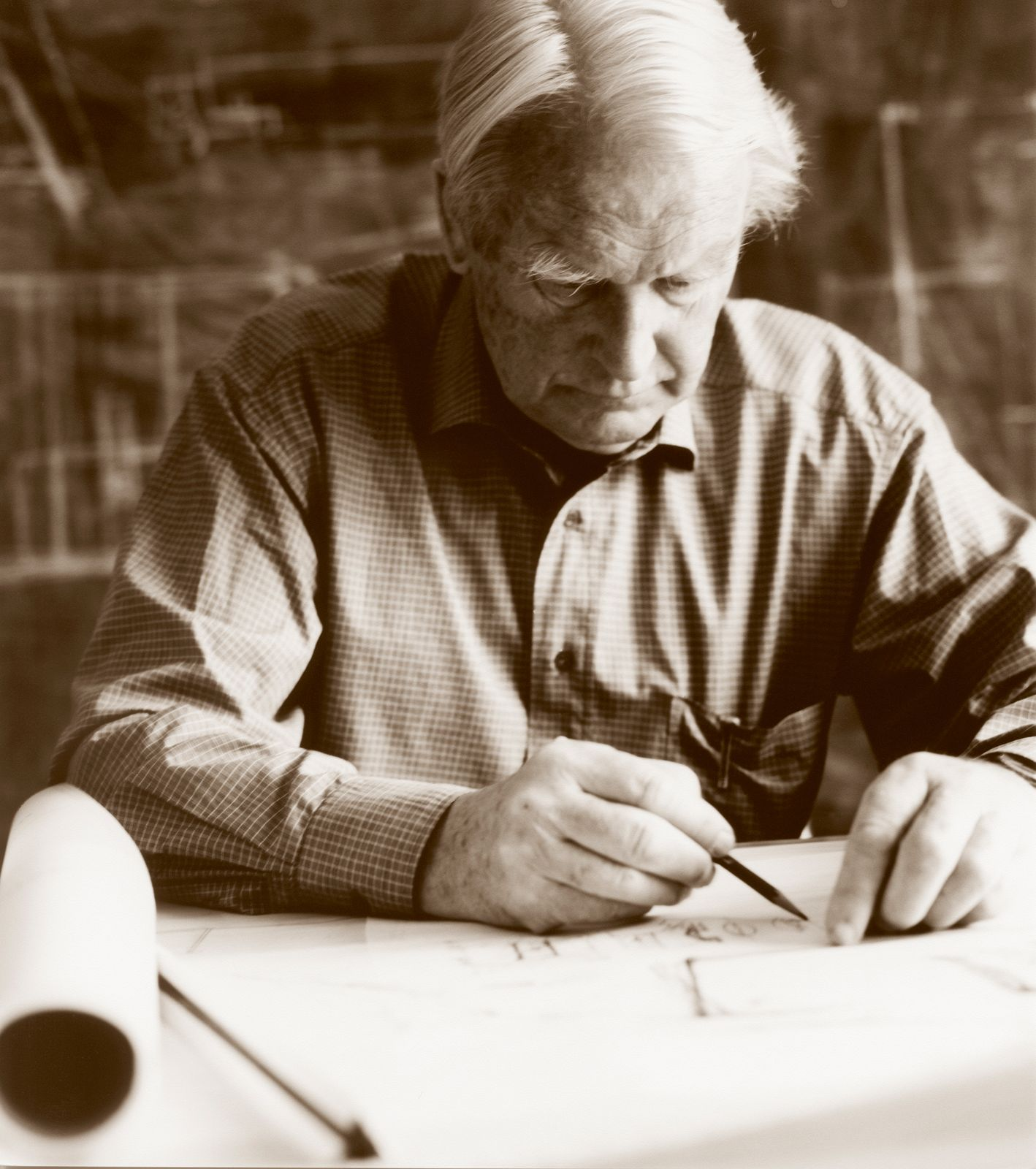 Sverre Fehn. Photo: Stina Glømmi.