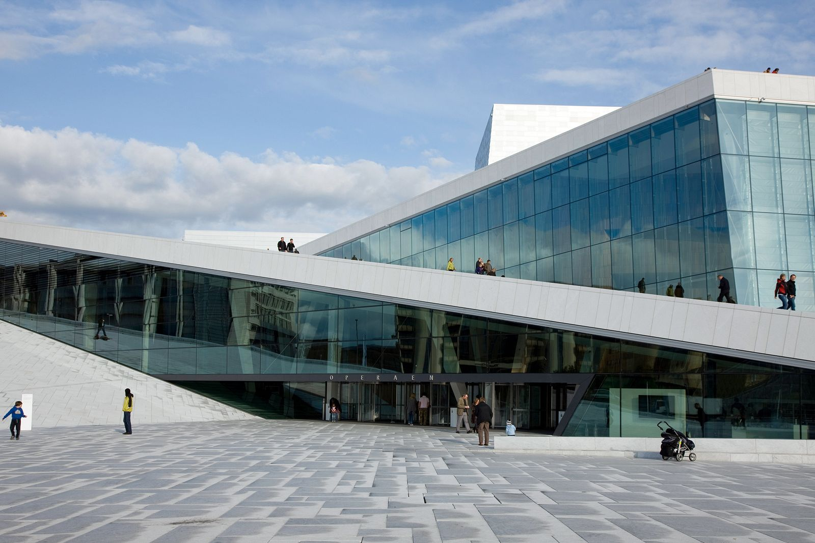 The main entrance to the new opera. Photo: Jiri Havran