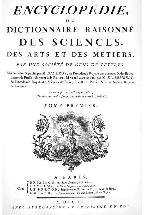 It has been a long time since it was possible to fit all knowledge into one book, or one head. From Encyclopédie, ou dictionnaire raisonné des sciences, des arts et des métiers by Denis Diderot, 1751-1772. From Wikimedia.