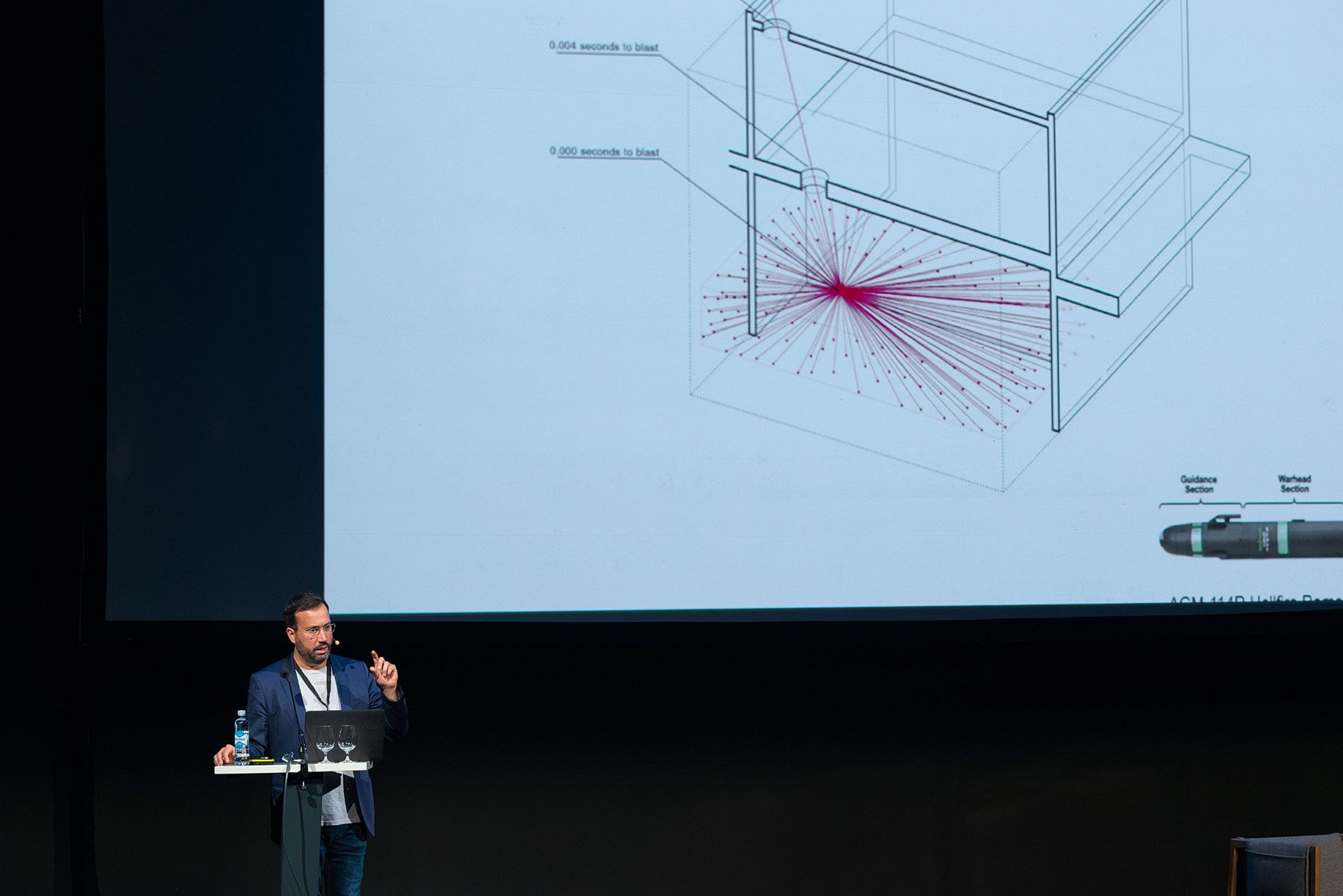 Eyal Weizman from Forensic Architecture at the triennale conference. Photo: OAT.