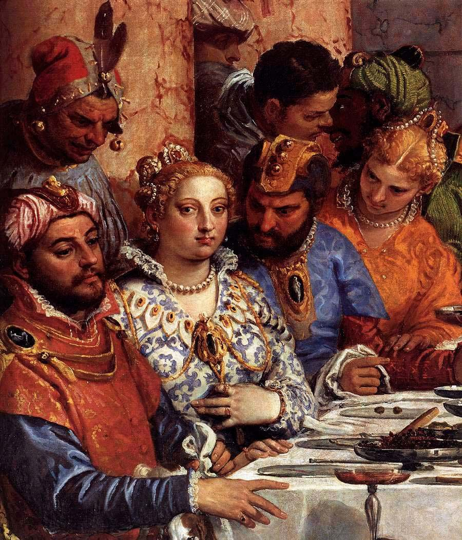 From Paolo Veronese, The Wedding at Cana, 1563. Detail.