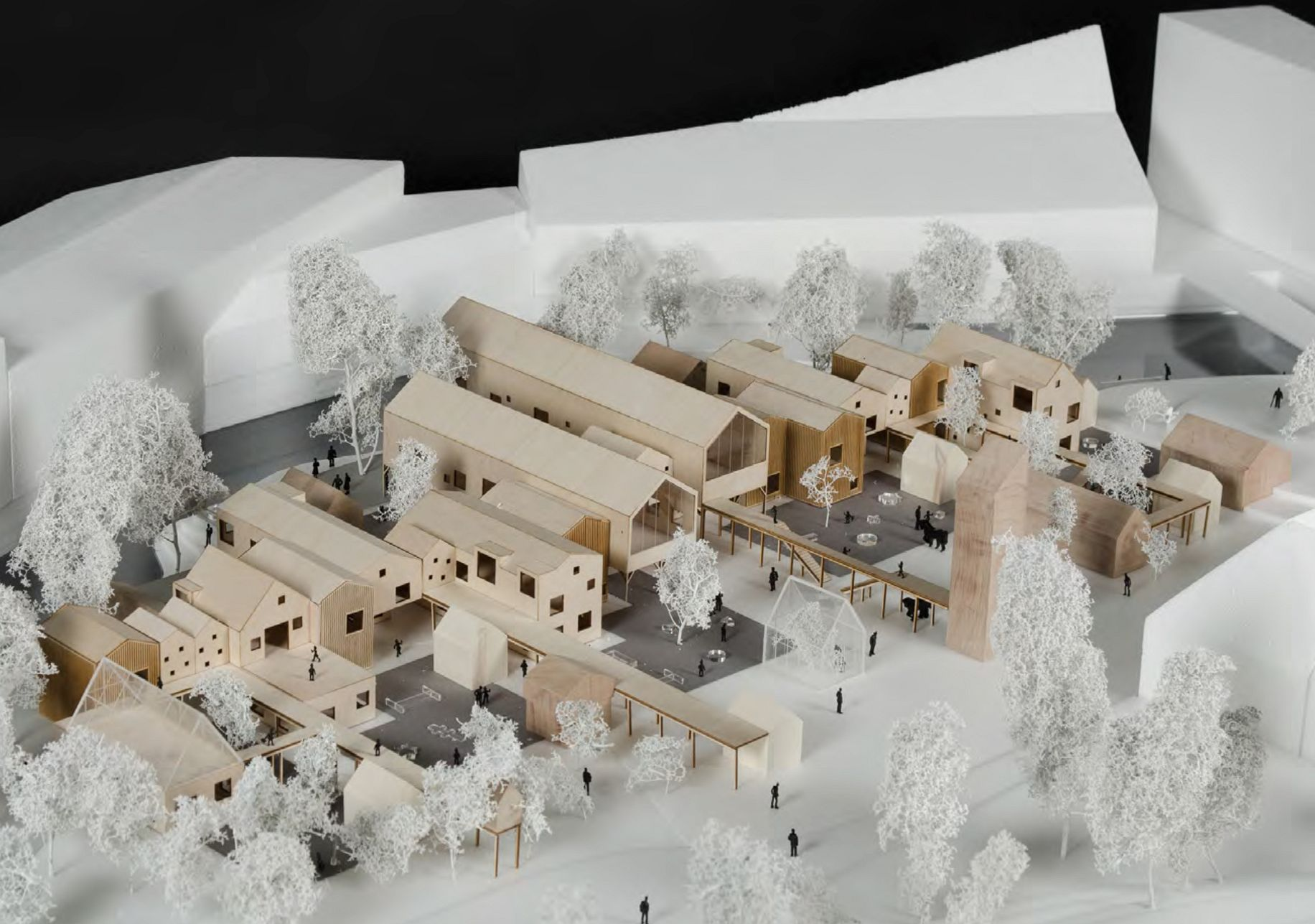Kindergarten as urban intervention. Model from thesis project by Truls Schiefloe Sandbak and Jonas Østhagen Hamar, AHO 2015.