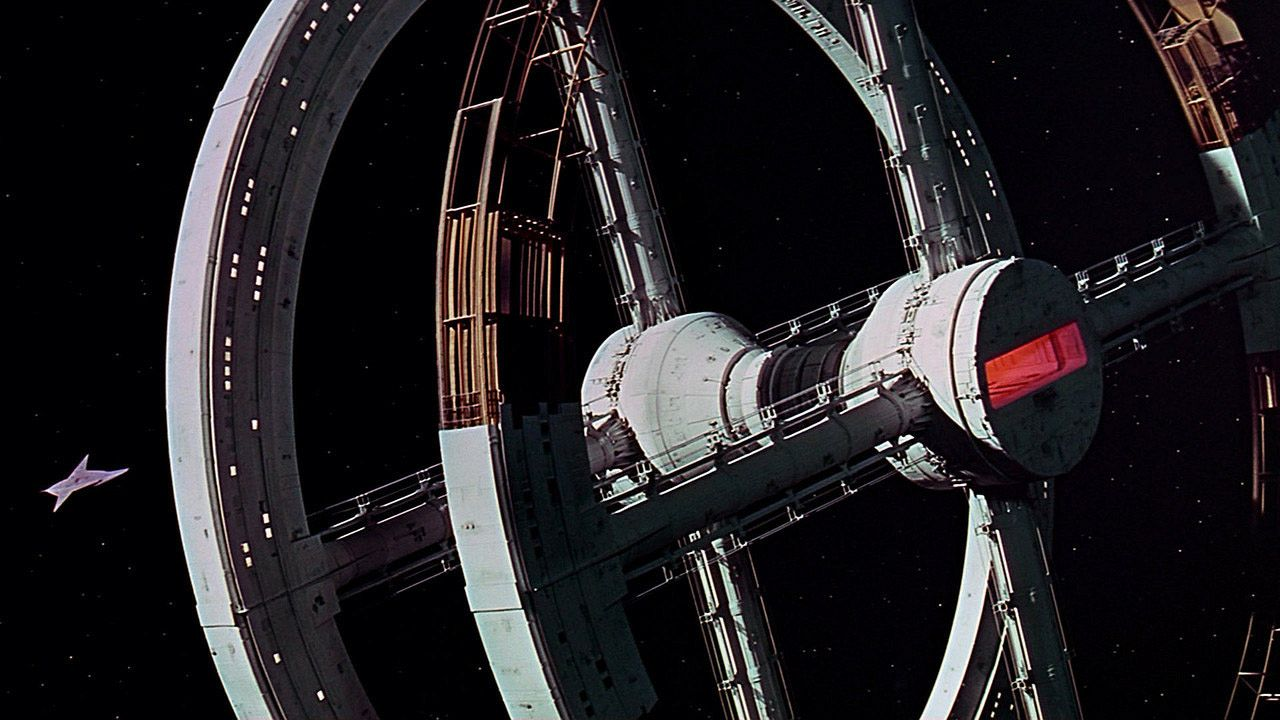 Space Station 1, from 2001: A Space Odyssey by Stanley Kubrick, 1968.